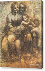 The Virgin And Child With Saint Anne And The Infant Saint John The Baptist Acrylic Print