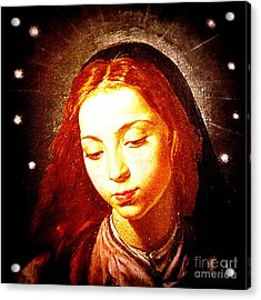 The Virgin Of The Immaculate Conception Acrylic Print by Patricia Januszkiewicz