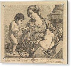 The Virgin Teaching St. John Acrylic Print by John Hamilton Mortimer
