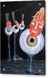 The Vision Behind The Structure Behind The Eyes Acrylic Print by Lazaro Hurtado