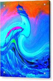The Vision Of Blue Acrylic Print