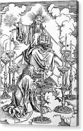 The Vision Of The Seven Candlesticks From The Apocalypse Or The Revelations Of St. John The Divine Acrylic Print by Albrecht Durer or Duerer