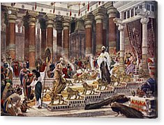 The Visit Of The Queen Of Sheba To King Acrylic Print