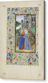 The Visitation Master Of The Llangattock Hours, Flemish Acrylic Print by Litz Collection