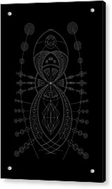 The Visitor Inverse Acrylic Print by DB Artist