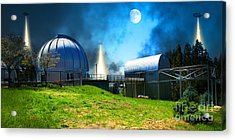 The Visitors At The Chabot Space And Science Center In The Hills Of Oakland California Dsc912 V1 Acrylic Print
