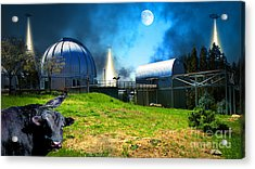 The Visitors At The Chabot Space And Science Center In The Hills Of Oakland California Dsc912 V2 Acrylic Print by Wingsdomain Art and Photography