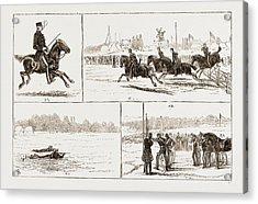 The Volunteer Camp At Wimbledon Uk 1873 Acrylic Print