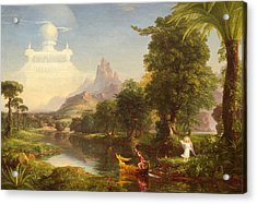 The Voyage Of Life Youth Acrylic Print by Thomas Cole