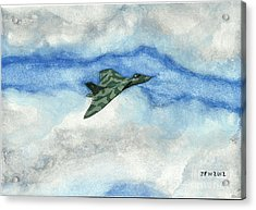 Acrylic Print featuring the painting The Vulcan Bomber by John Williams