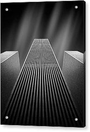 The W Acrylic Print by Olivier Schwartz