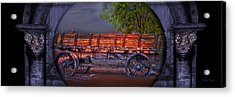 The Wagon Acrylic Print by Gunter Nezhoda