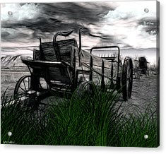 Acrylic Print featuring the mixed media The Wagon by Tyler Robbins