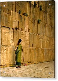 The Wailing Wall Acrylic Print by J L Gerome