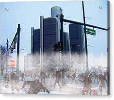 The Walking Dead Acrylic Print by Michael Rucker