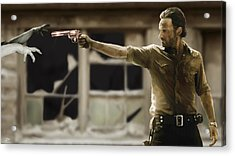 The Walking Dead Acrylic Print by Paul Tagliamonte