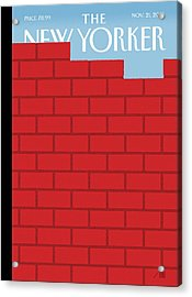 The Wall Acrylic Print by Bob Staake