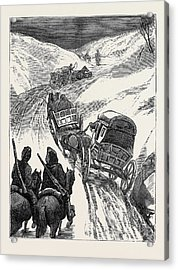 The War In The East The Red Cross Society Homeward Bound Acrylic Print by English School