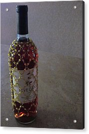 The Warm Glow Of A Chilled Wine Acrylic Print by Guy Ricketts
