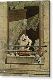 The Washerwoman, Engraved By J. Laurent Acrylic Print by Augustin de Saint-Aubin