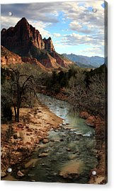 The Watchman At Sunset Acrylic Print by Eric Foltz
