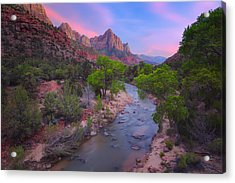 The Watchman Acrylic Print by Giovanni Allievi