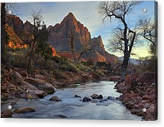 The Watchman In Winter-2 Acrylic Print