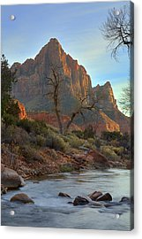The Watchman In Winter-3 Acrylic Print by Alan Vance Ley