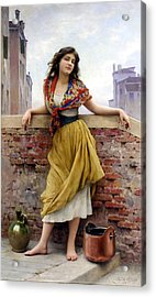 The Water Carrier Acrylic Print by Eugene de Blaas