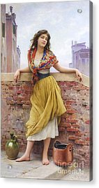 The Water Carrier Acrylic Print by Pg Reproductions
