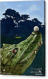 The Water Hazard... Acrylic Print by Will Bullas