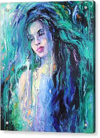 The Water Acrylic Print by Nelya Shenklyarska
