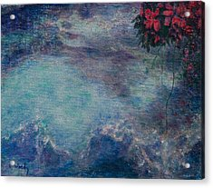 Acrylic Print featuring the mixed media The Water Spirit Reveals Herself by Carla Woody