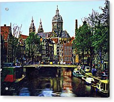 The Water Way Amsterdam Acrylic Print by Dmt