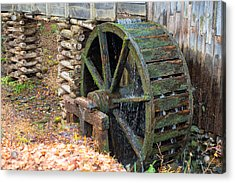 The Water Wheel At Cable Grist Mill Acrylic Print