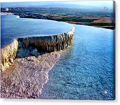 Acrylic Print featuring the photograph The Water With White Paint by Zafer Gurel