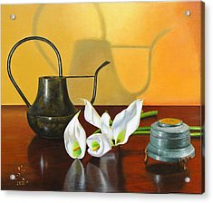 The Watering Can Acrylic Print by Glenn Beasley