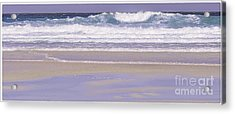 The Wave Luskentyre Acrylic Print by George Hodlin