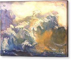 The Wave Acrylic Print by Renuka Pillai