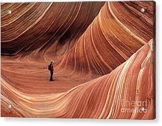 The Wave Seeking Enlightenment Acrylic Print by Bob Christopher