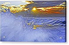 The Wave Which Got Me Acrylic Print