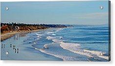 The Waves In Carlsbad Beach California  Acrylic Print