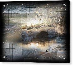 The Waves Of Lake Michigan Acrylic Print by Andrew Sliwinski