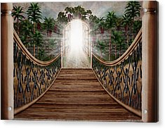 The Way And The Gate Acrylic Print by April Moen