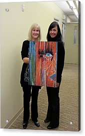 Acrylic Print featuring the painting The Way Eye See It by Kathleen Sartoris