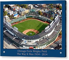 The Way It Was Chicago Cubs Wrigley Field 02 Acrylic Print by Thomas Woolworth