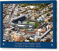The Way It Was Chicago Cubs Wrigley Field 03 Acrylic Print by Thomas Woolworth