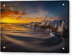 Acrylic Print featuring the photograph The Way Of The Wave by Sean Foster