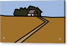 The Way To Sarah's House Acrylic Print by Kenneth North