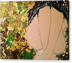 The Weeping Girl Acrylic Print by Rachna  Beri